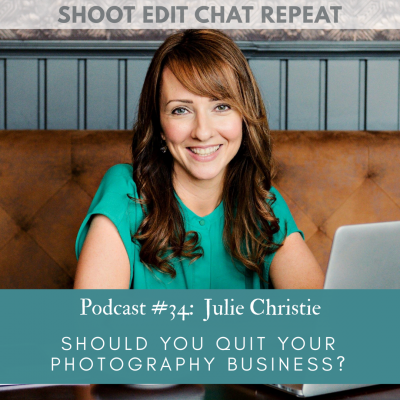 #34  Julie Christie:  Should you quit your photography business?